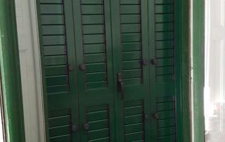 mallorquina de color verde ral 6005